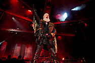 Judas Priest singer Rob Halford performs as the band kicked off their 50th anniversary tour Sept. 8, 2021, at Santander Arena in Reading, Pennsylvania.