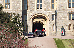 London, UK, 17 April 2021<br />Arrivals at Windsor Castle ahead of the funeral of Prince Philip, The Duke of Edinburgh.<br />Credit: Doug Peters/EMPICS/Alamy Live News
