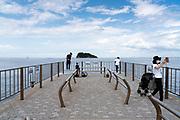 pier at Umikaze park, Yokosuka with Tokyo Bay and Sarushima Island