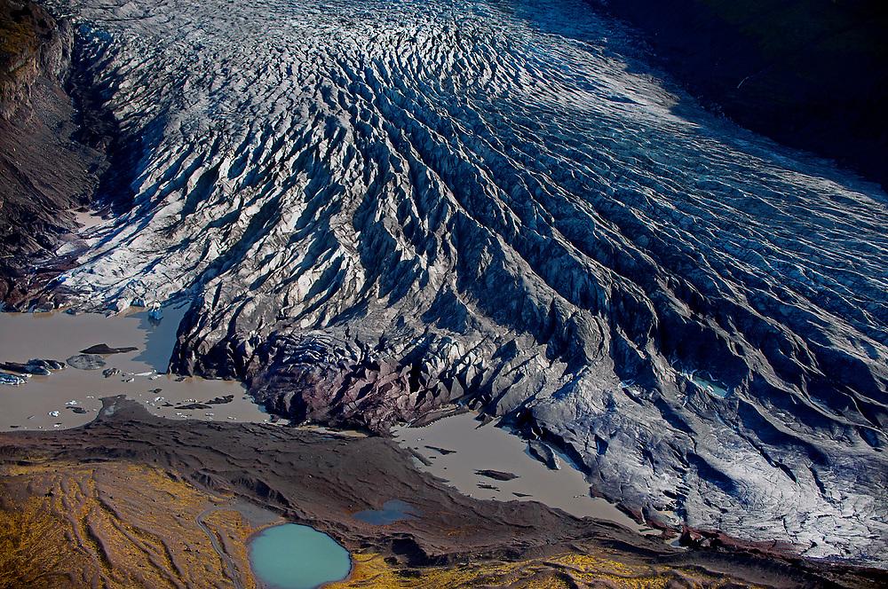 Receding Myrdalsjokull glacier in Iceland