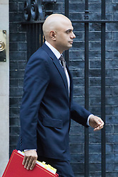 Downing Street, London, November 29th 2016. Communities and Local Government Secretary Sajid Javid leaves 10 Downing Street following the weekly cabinet meeting.
