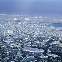 ARCTIC OCEAN, Sea ice near North Pole.