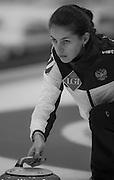 "Glasgow. SCOTLAND.  Russian ""Vice Skip"" Uliana VISILEVA, ""Round Robin"" Games. Le Gruyère European Curling Championships. 2016 Venue, Braehead  Scotland<br /> Monday  21/11/2016<br /> <br /> [Mandatory Credit; Peter Spurrier/Intersport-images]"
