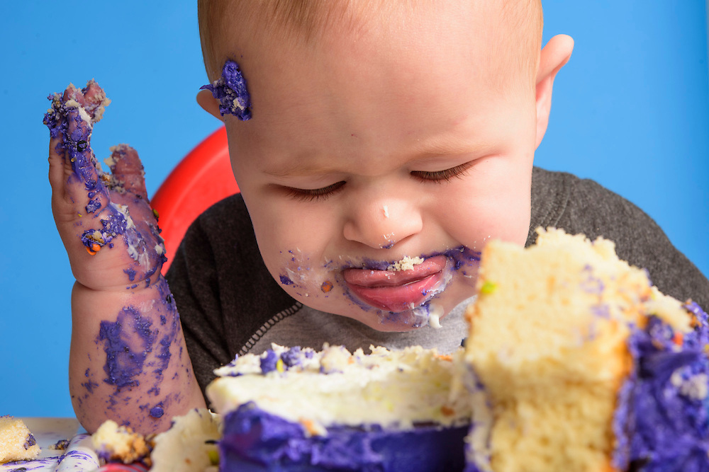 Baltimore, Maryland - November 04, 2016: Oliver's 1st birthday Smash Cake photo shoot!<br /> <br /> CREDIT: Matt Roth
