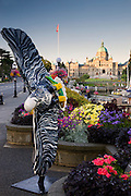 Parliament Buildings, also known as the legislative buildings Inner Harbour, Victoria, Vancouver Island, British Columbia, Canada.