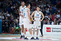 Real Madrid Walter Tavares, Jonas Maciulis and Jaycee Carroll during Turkish Airlines Euroleague match between Real Madrid and Anadolu Efes at Wizink Center in Madrid, Spain. January 25, 2018. (ALTERPHOTOS/Borja B.Hojas)