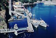 CS01109-10. Tradewinds Dock, Depoe Bay July 1951