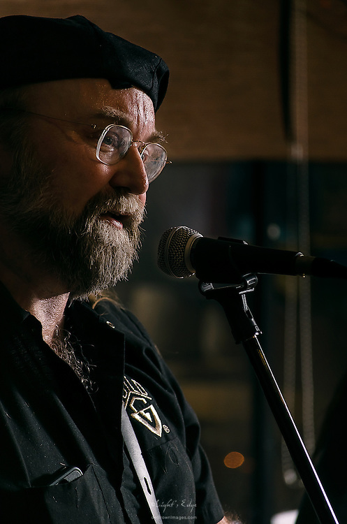 Al Pepiak of Lost Art, on guitar, perfoming at The Bus Stop Music Cafe in Pitman, NJ.