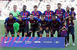 August 15, 2018 - Barcelona, Spain - Fc Barcelona team during the match between FC Barcelona and C.A. Boca Juniors, corresponding to the Joan Gamper trophy, played at the Camp Nou, on 15th August, 2018, in Barcelona, Spain. (Credit Image: © Joan Valls/NurPhoto via ZUMA Press)