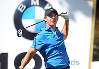 Golf - 2019 BMW PGA Championship - Thursday, First Round<br /> <br /> A dejected Rory McIlroy of Ireland after hitting the first of 3 balls off the tee at the 18th at the West Course, Wentworth Golf Club.<br /> <br /> COLORSPORT/ANDREW COWIE