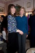 LADY SOPHIA HAMILTON; THE DUCHESS OF HAMILTON, Hamlton-Paris host a trunk show for Autumn/Wnter 2010. The Connaught. Carlos Place. Mayfair. London W1. 23 March 2010.
