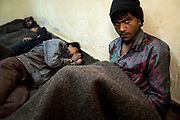 A mentally ill homeless man in the Phool Mandi homeless shelter in Delhi, India<br /> It is estimated that around than 150000 people - more than one percent of the city - is homeless and, with constant migration this is increasing on a daily basis. The incidence of mental illness amongst this group is very high. Delhi has little formal provision to deal with such a situation