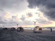 Solar-powered Ecocapsule lets you live off-the-grid anywhere in the world <br /> <br /> Egg-shaped eco-capsules let travellers set up camp anywhere... and generate power with a mini wind turbine and solar panels<br /> <br /> It is the ideal way for travellers to ensure they wake up with the perfect view - a portable eco-capsule that can be set up anywhere in the world. <br /> <br /> The innovative, egg-shaped pods ensure travellers can camp in the most extreme corners of the world, with all the luxuries of a hotel room.<br /> <br /> Powered solely by solar and wind energy, the tiny home has lets you live off the grid wherever your wanderlust takes you, and even has its own shower and toilet, sleeping area for two, and kitchenette. <br /> <br /> Looking like something in a sci-fi movie, the pods are equipped with solar panels, a retractable wind-turbine and can even capture rain water. <br /> It may look like camping, but at least with the EcoCapsules you can look forward to a hot shower and running water on your travels. <br /> The 3306lb pods can be transported on your travels in a sea-container or can be towed on a trailer, meaning the possibilities are endless. <br /> <br /> Bratislava-based Nice Architects are behind the quirky sleepers and said they initially designed them for people who stay in the nature for long time, for example scientists, photographers, rangers or extreme tourists.<br /> <br /> However it quickly became apparent that they could be opened up to the wider public and even used in urban areas to combat high rent, and placed on roofs for studio space, or living quarters. <br /> ©Nice Architects/Exclusivepix Media