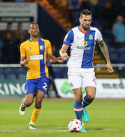 Blackburn Rovers' Shane Duffy in action during todays match  <br /> <br /> Photographer David Shipman/CameraSport<br /> <br /> Football - The EFL Cup First Round - Mansfield Town v Blackburn Rovers - Tuesday 9th August 2016 - One Call Stadium - Mansfield<br />  <br /> World Copyright © 2016 CameraSport. All rights reserved. 43 Linden Ave. Countesthorpe. Leicester. England. LE8 5PG - Tel: +44 (0) 116 277 4147 - admin@camerasport.com - www.camerasport.com