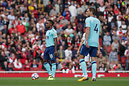 Jermain Defoe of AFC Bournemouth stands over the ball prior to kick off . Premier league match, Arsenal v AFC Bournemouth at the Emirates Stadium in London on Saturday 9th September 2017. pic by Kieran Clarke, Andrew Orchard sports photography.