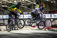 #747 (TURNER Bodi) AUS and #696 (WHYTE Tre) GBRat the 2016 UCI BMX Supercross World Cup in Manchester, United Kingdom<br /> <br /> A high res version of this image can be purchased for editorial, advertising and social media use on CraigDutton.com<br /> <br /> http://www.craigdutton.com/library/index.php?module=media&pId=100&category=gallery/cycling/bmx/SXWC_Manchester_2016