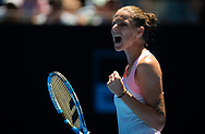 Karolina Pliskova of the Czech Republic in action during her quarter-final match at the 2019 Australian Open Grand Slam tennis tournament on January 23, 2019 at Melbourne Park in Melbourne, Australia - Photo Rob Prange / Spain ProSportsImages / DPPI / ProSportsImages / DPPI