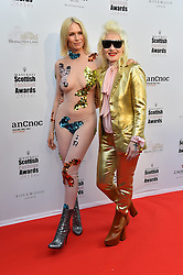 Pam Hogg and Tuuli Shipster attending the Scottish Fashion Awards, at the Rosewood Hotel in London. Picture date: Friday October 21, 2016. Photo credit should read: Matt Crossick/ EMPICS Entertainment.