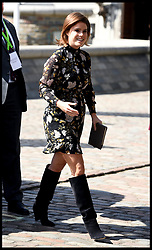 April 18, 2018 - London, London, United Kingdom - Prince Harry and Meghan Markle attend Chogm2018. Princess Eugenie arrives at the Queen Elizabeth II Conference Centre as part of the Commonwealth Heads of Government meeting 2018. (Credit Image: © Andrew Parsons/i-Images via ZUMA Press)