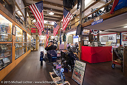 Doug Frederick in his American Police Motorcycle Museum in Meredith, NH during Laconia Motorcycle Week. June 15, 2015.  Photography ©2015 Michael Lichter.