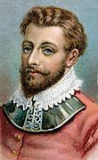 Francis Drake (c1540-1596) English navigator and privateer. Chromolithograph.