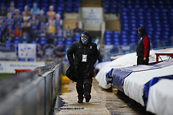 A member of the ground staff seen during the game wearing a mask - Mandatory by-line: Arron Gent/JMP - 26/09/2020 - FOOTBALL - Portman Road - Ipswich, England - Ipswich Town v Rochdale - Sky Bet League One