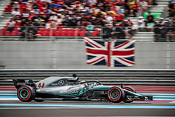 Lewis Hamilton (Mercedes) rides during the qualifying session of Grand Prix de France 2018, Le Castellet, France, on June 23rd, 2018. Photo by Marco Piovanotto/ABACAPRESS.COM