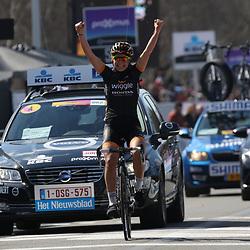 05-04-2015: Wielrennen: Ronde van Vlaanderen vrouwen: BelgieOUDENAARDE (BEL) cyclingThe 3th race in the UCI womens World Cup is the 12th edition of the Ronde van Vlaanderen. The race distance is 145 km with 12 Climbs and 5 zones of Cobbles.