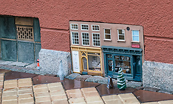 December 18, 2018 - MalmÃ, Sweden - Mysterious street art creators Anonymous has made another mini world with mouse versions of human shops and activities, for the third consecutive Christmas in Malmà (Credit Image: © Tommy Lindholm/Pacific Press via ZUMA Wire)