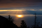 Sunset over Lac Leman, Lake Geneva, France