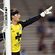 Wilmington Goalkeeper Kyle Polak lines up a defensive wall during a United Soccer League Pro soccer match between the Wilmington Hammerheads and the Orlando City Lions at the Florida Citrus Bowl on June 18, 2011 in Orlando, Florida.  (AP Photo/Alex Menendez)