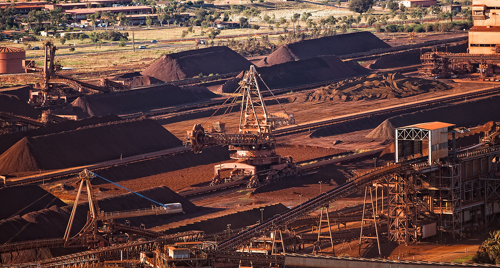 File picture of a stock yard at the Pilbara port of Port Hedland in the north west of Western Australia.