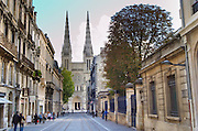 Cathedral Saint Andre. Rue Vital Carles. Bordeaux city, Aquitaine, Gironde, France