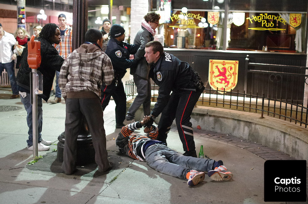 Two men are arrested on Rideau Street following a confrontation at a near by McDonalds.