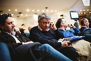 Maurizio Landini al centro congressi Frentani partecipa al seminario Filctem-Cgil sulla contrattazione, Roma 3 marzo 2015.  Christian Mantuano / OneShot <br /> <br /> Maurizio Landini during the seminar Filctem-CGIL on bargaining, Rome 3 March 2015. Christian Mantuano / OneShot