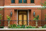 Private home entrance facade, Philadelphia, Pennsylvania.
