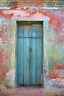 Door and wall in Gibara, Holguin, Cuba.