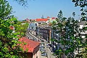 Widok na Kraków z Parku Bendarskiego w Podgórzu, Polska <br /> A view of Cracow from Bendarski Park in Podgórze, Poland