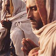 Pilgrims make their devotions at the Kumbh Mela