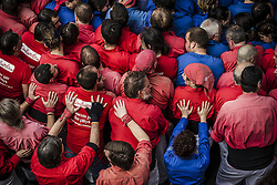 November 20, 2016 - Barcelona, Catalonia, Spain - The 'Castellers de Barcelona' gather for the base of a human tower during a 'diada castellera' at Barcelona's Gracia quarter (Credit Image: © Matthias Oesterle via ZUMA Wire)