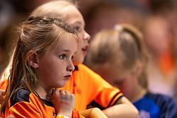 11-04-2019 NED: Netherlands - Slovenia, Almere<br /> Third match 2020 men European Championship Qualifiers in Topsportcentrum in Almere. Slovenia win 26-27 / Dutch orange youth support