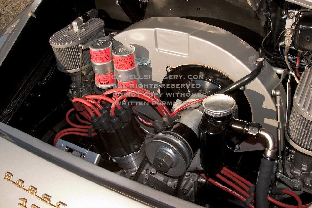 Image of a 1958 hot-rod motor in Washington, Pacific Northwest,Porsche 356 Speedster, property released