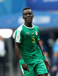 MOSCOW, June 19, 2018  Idrissa Gana Gueye of Senegal celebrates during a Group H match between Poland and Senegal at the 2018 FIFA World Cup in Moscow, Russia, June 19, 2018. (Credit Image: © Ye Pingfan/Xinhua via ZUMA Wire)