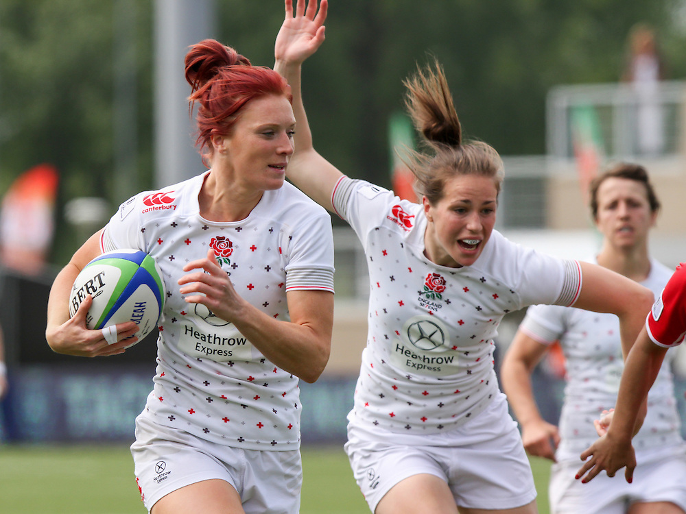 Jo Watmore in action for England, Women's Sevens World Series - Amsterdam Leg, NRCA, Amsterdam, Netherlands, Day 1 on 22nd May 2015.