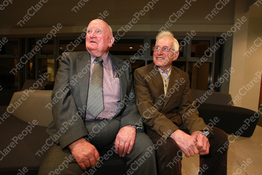 Gerry Lynch and IJ Shannon at the Civic Reception in Ëras Contae an Chl‡ir to mark the centenary of the Kilfenora Ceile Band last night.<br /> Photograph by Yvonne Vaughan<br /> Gerry Lynch and IJ Shannon at the Civic Reception in Àras Contae an Chláir to mark the centenary of the Kilfenora Ceile Band last night.<br /> Photograph by Yvonne Vaughan