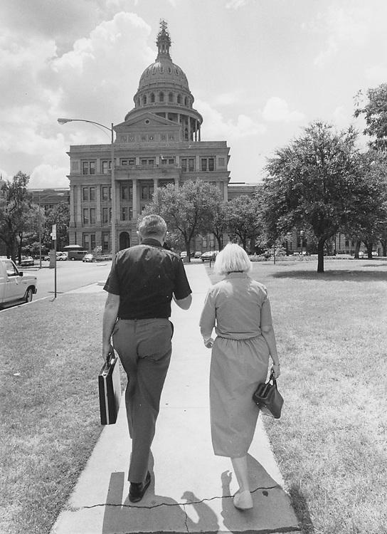 1990's  lobbyists heading to the Texas Capitol.