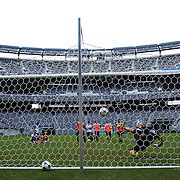 AC Milan players practice penalty kicks  in preparation for the Guinness International Champions Cup tie with Chelsea at MetLife Stadium, East Rutherford, New Jersey, USA.  3rd August 2013. Photo Tim Clayton