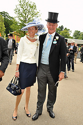 The DUKE & DUCHESS OF ROXBURGHE at the Royal Ascot racing festival 2009 held on 17th June 2009.