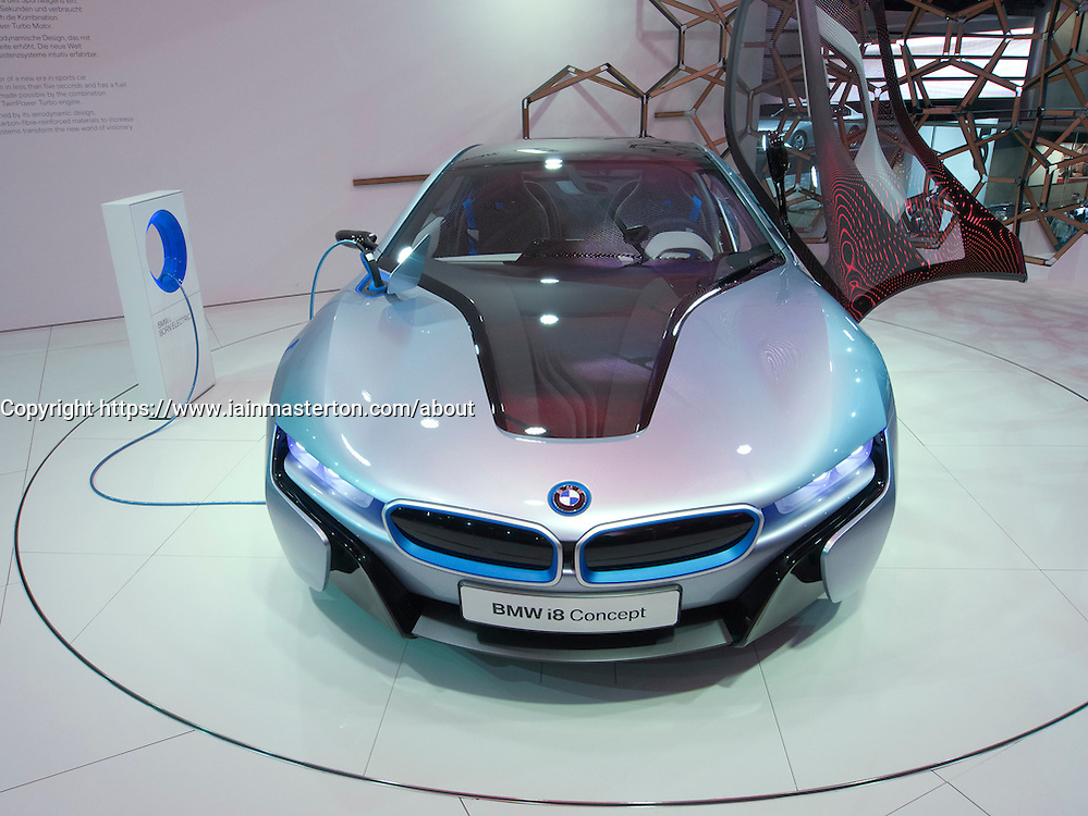 BMW i8 electric concept car at Frankfurt Motor Show or IAA 2011 Germany