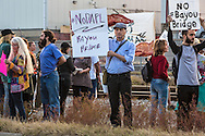 November 15, 2016, over 150 people protest against the Dakota Access Pipeline in New Orleans outside the US Army Corp of Engineers headquarters in a show of solidarity with the Standing Rock Sioux tribe, whose fight against the pipeline has made international news.